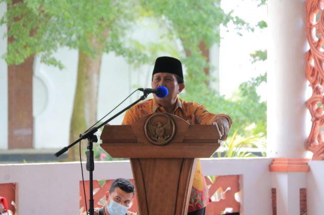 Sambut Ramadhan 1442 H, Bupati H. Sukiman Silaturrahmi dengan Mubaligh dan Anak Yatim