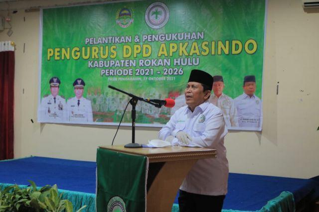 "Bupati H. Sukiman Harap APKASINDO sebagai ""Jembatan"" Perjuangkan Petani Kelapa Sawit di Rohul"