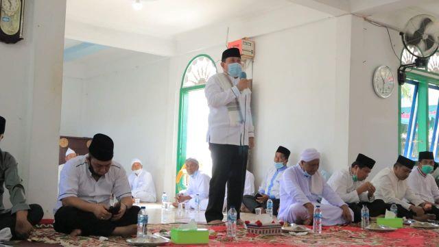 Hadiri Peringatan Haul Syehk Masum Tambuasi, Sukiman Resmikan Balai BPBD Dusun Kuala Tambusai