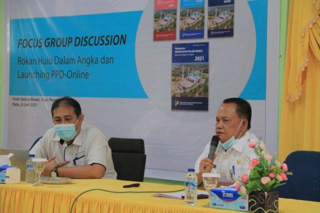 BPS adakan FGD, Evaluasi dan Sosialisasi Rokan Hulu Dalam Angka 2021