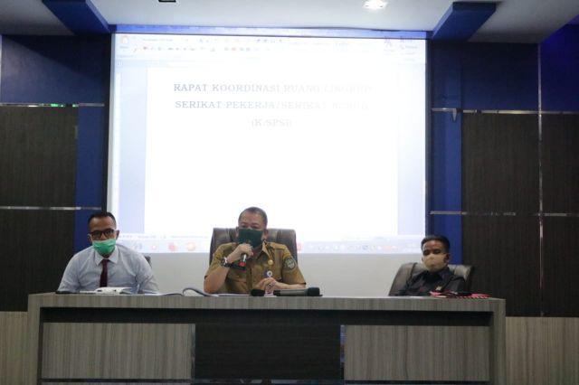 Rapat Koordinasi K.SPSI Rohul, Sepakat Tidak Adanya Gangguan Bagi Serikat Pekerja Yang Lebih Dulu Tercatat