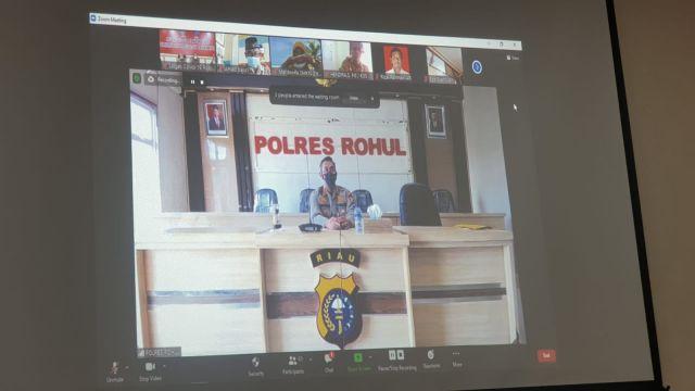Evaluasi Pelaksanaan PTM Terbatas, Kapolres Rohul Gelar Rapat Bersama Seluruh Kepala Sekolah Se Rohul